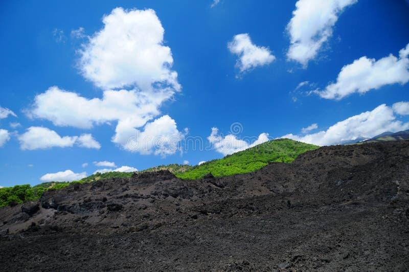 support de l'Etna photographie stock