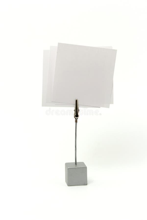 Support de message avec un papier images stock