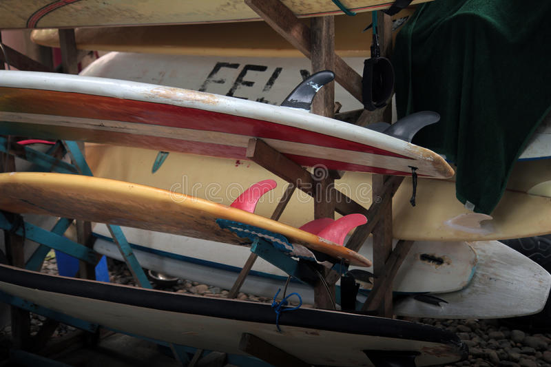 Support de planche de surf photo stock