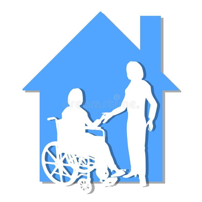 Support de soin de soins de santé à la maison illustration stock