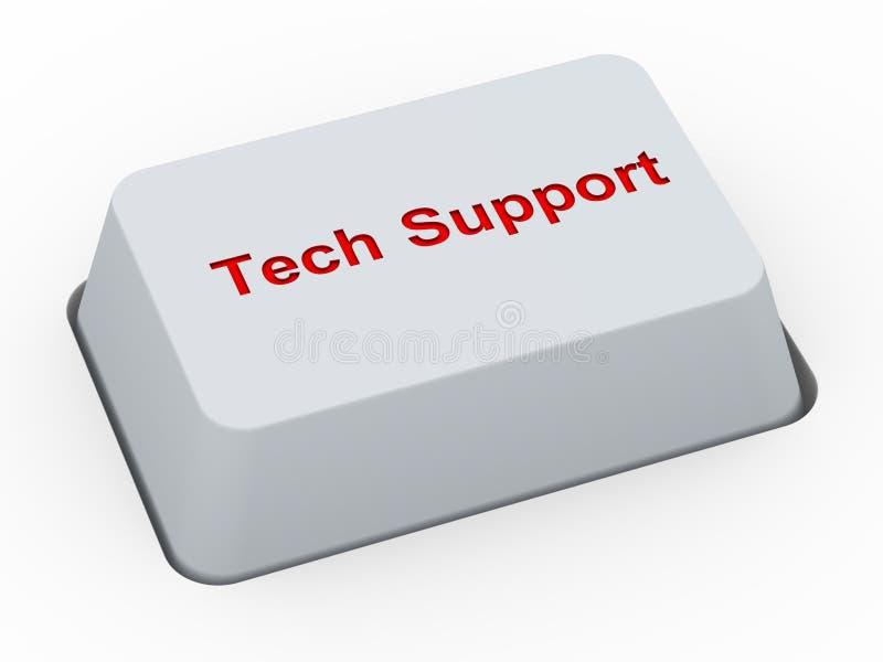 support de technologie du bouton 3d illustration de vecteur