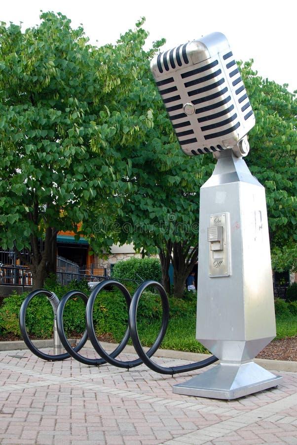 Support de vélo à Nashville photo libre de droits