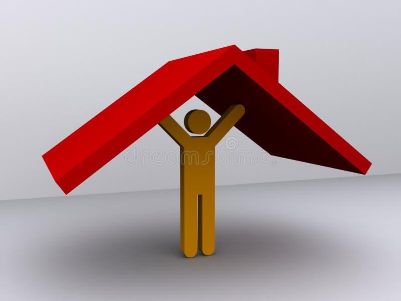 Support du toit illustration libre de droits