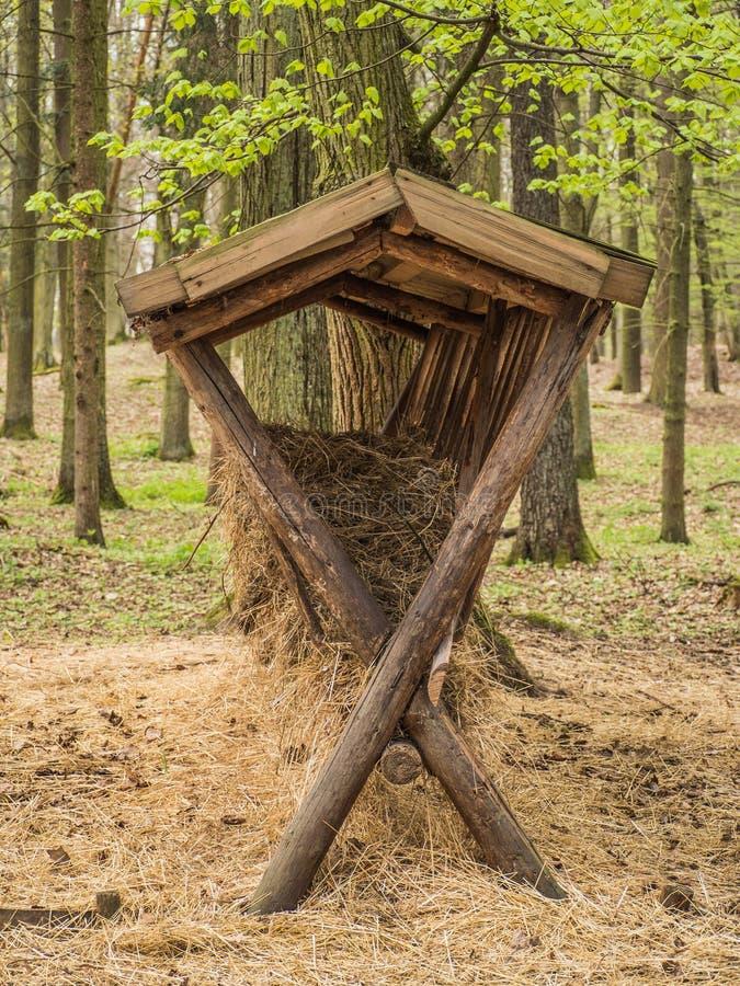 Support en bois d'alimentation photographie stock libre de droits