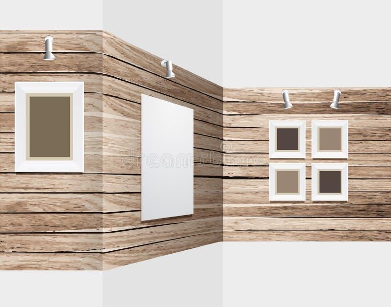 Support en bois d'exposition de vecteur illustration stock