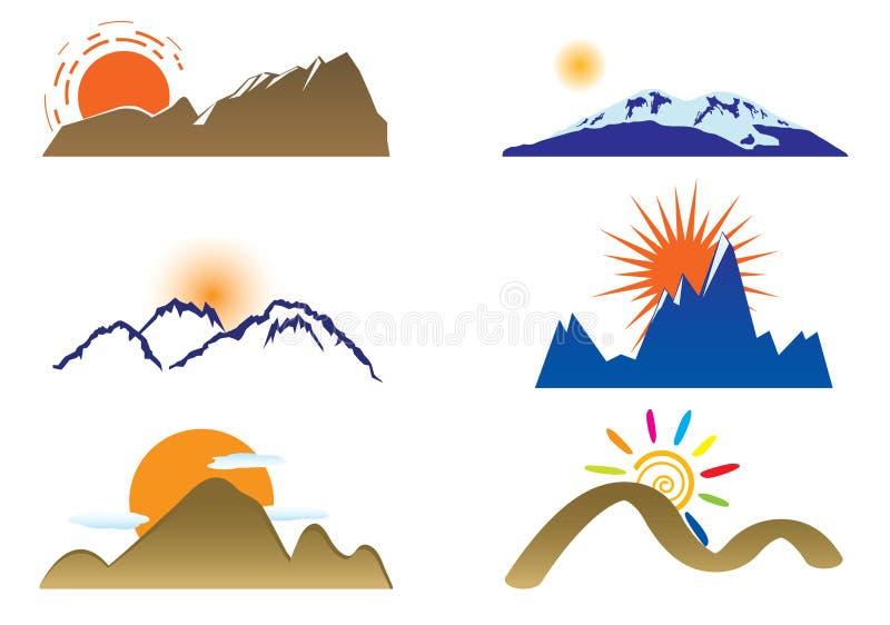Support et soleil illustration stock