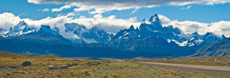 Support Fitz Roy, visibilité directe Glaciares NP, Argentine photo libre de droits