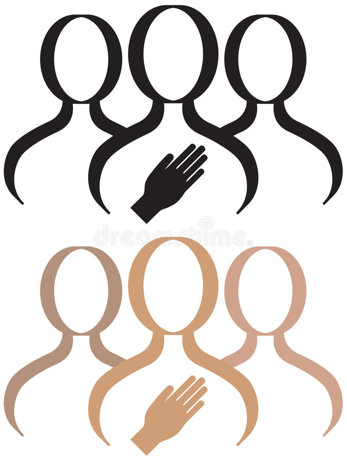 Support Group. A support group for a person who is making a commitment or pledge vector illustration