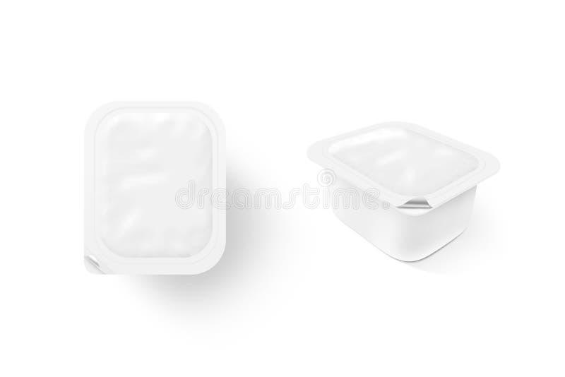 Support haut à sauce blanche de moquerie vide de boîte Sause clair photographie stock