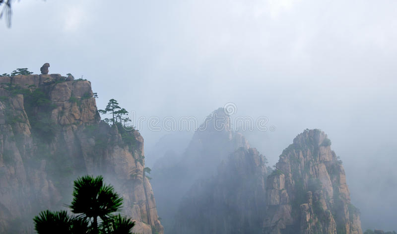 Support Huangshan photographie stock