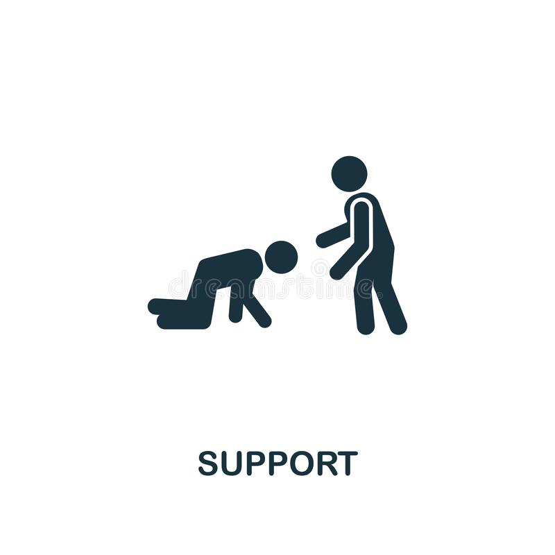 Support icon. Premium style design from teamwork icon collection. UI and UX. Pixel perfect Support icon for web design, apps,. Support icon. Premium style design royalty free stock photo