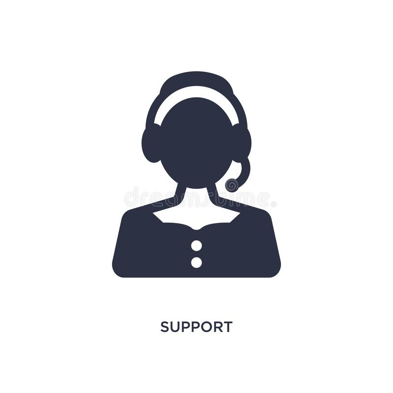 support icon on white background. Simple element illustration from customer service concept stock illustration