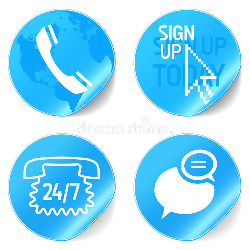 Support icons stock illustration