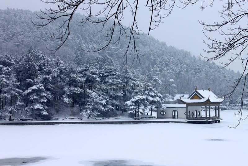 Support Lu dans la neige photo libre de droits