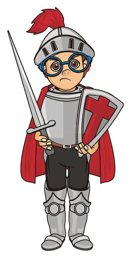 Support mauvais de chevalier illustration de vecteur