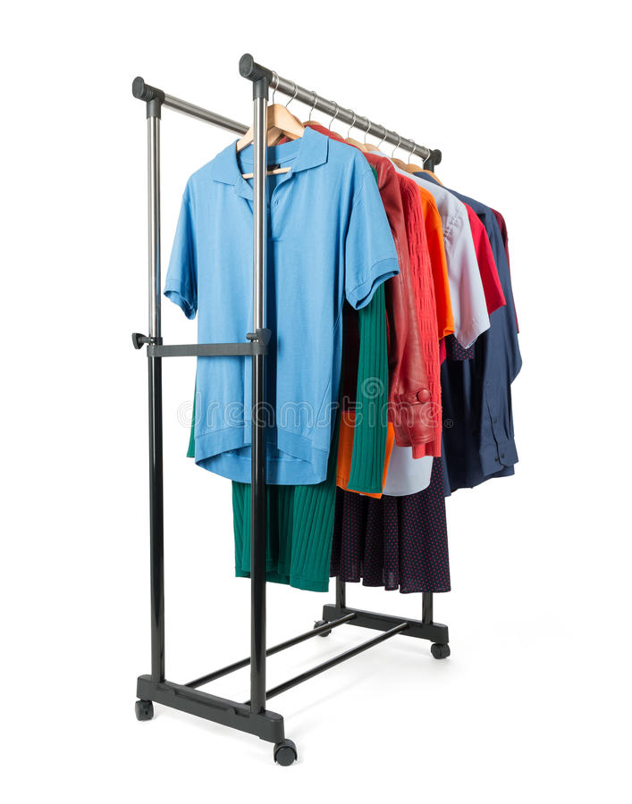 Download Support Mobile Avec Des Vêtements Sur Le Fond Blanc Photo stock - Image du couleur, détail: 45356212