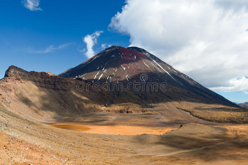 Support Ngauruhoe, Nouvelle Zélande photos stock
