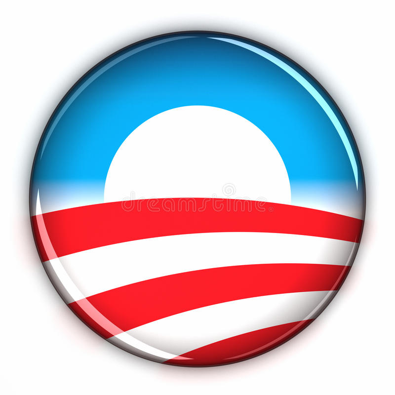 Support Obama. Supporting Obama icon over white background