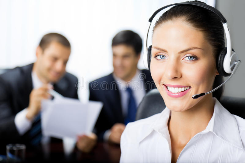 Support operator royalty free stock photos