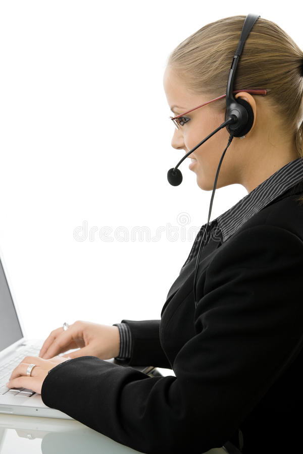 Download IT-support Operator In Headset Stock Photo - Image: 10131530