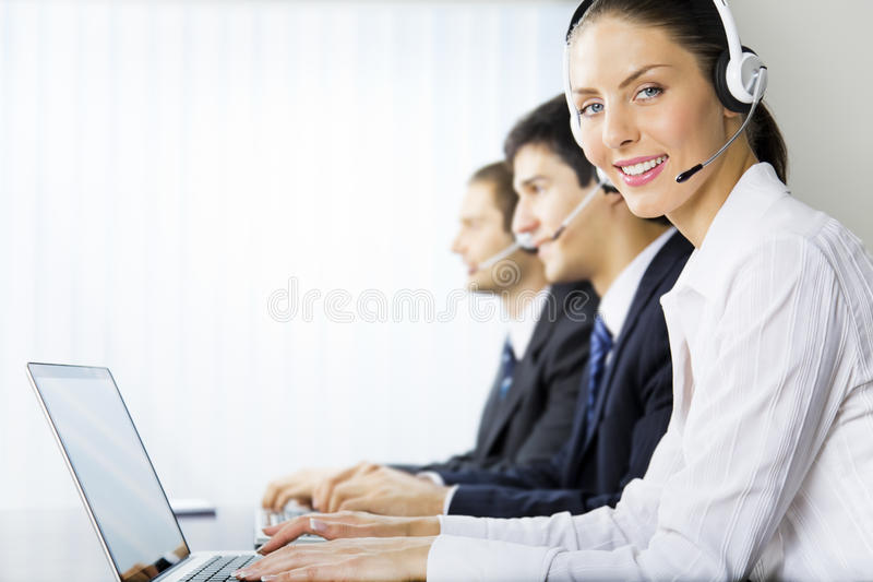 Support operators. Support phone operators at workplace
