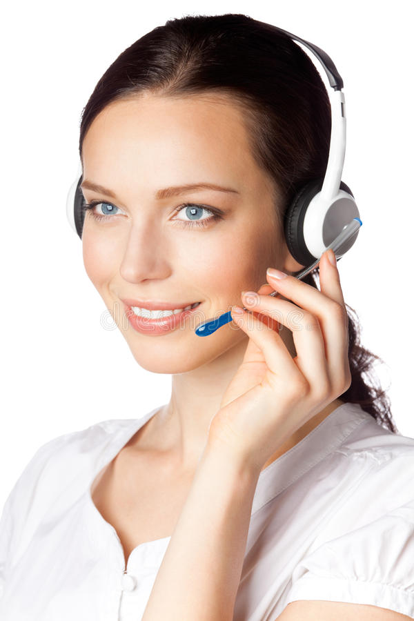 Support phone operator royalty free stock image