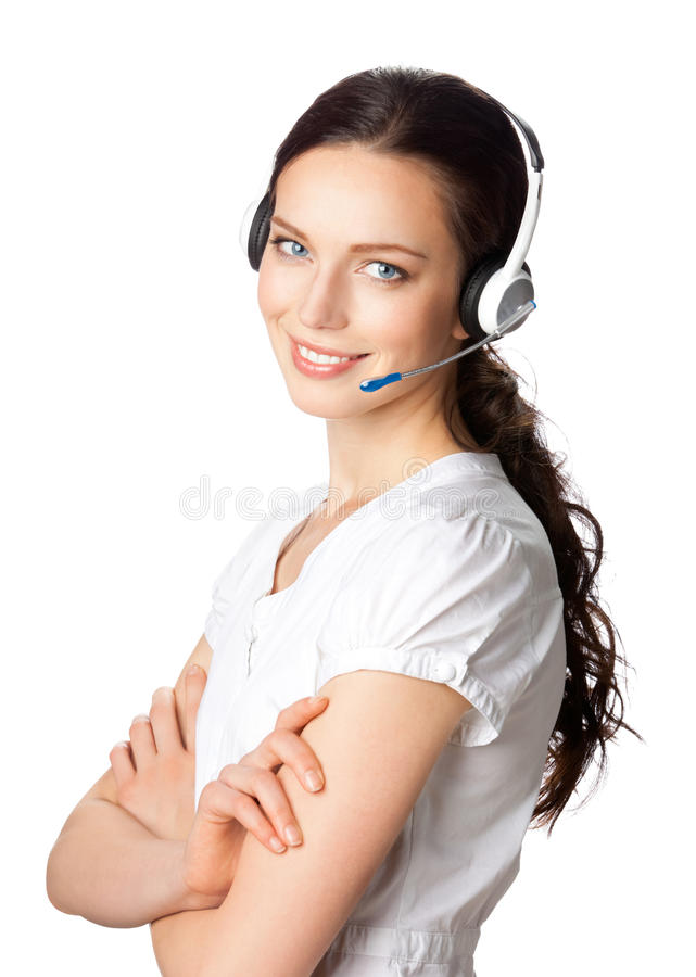 Support phone operator royalty free stock photography