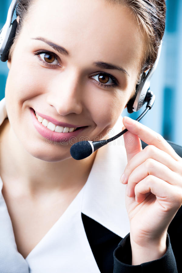 Support phone operator royalty free stock photos