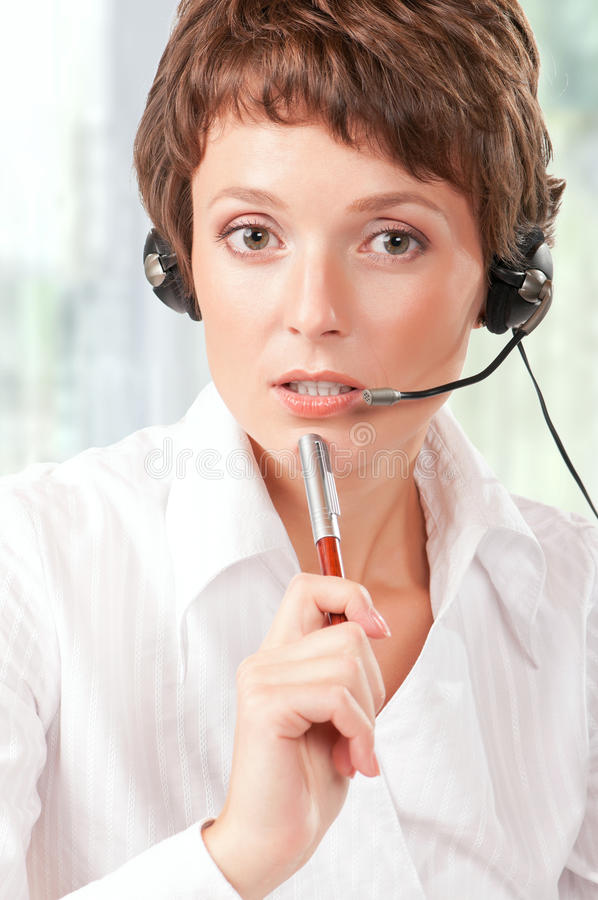Download Support phone operator stock image. Image of modern, adult - 26036637