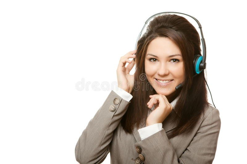 Support phone operator headset stock images