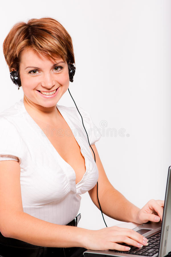 Free Support Phone Operator In Headset Royalty Free Stock Photography - 17245997