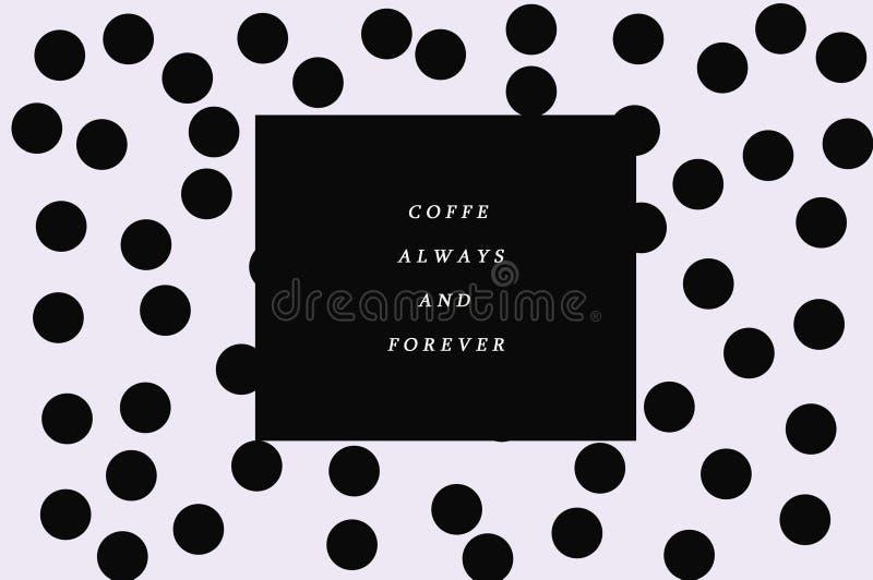 Support pointillé noir et blanc de café de fond image libre de droits