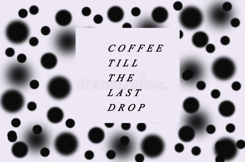 Support pointillé noir et blanc de café de fond photo libre de droits
