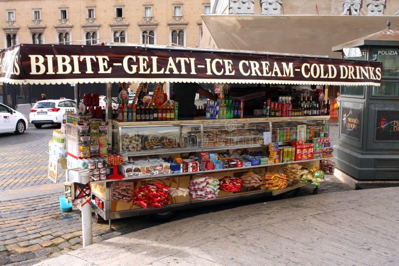 Support Rome Italie de crème glacée  photographie stock