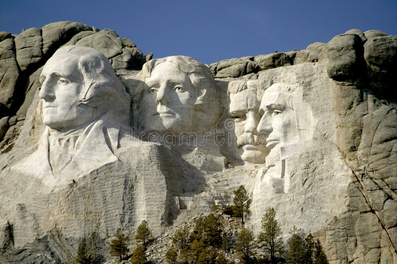 Support Rushmore Monumet national, le Black Hills, le Dakota du Sud. photo libre de droits
