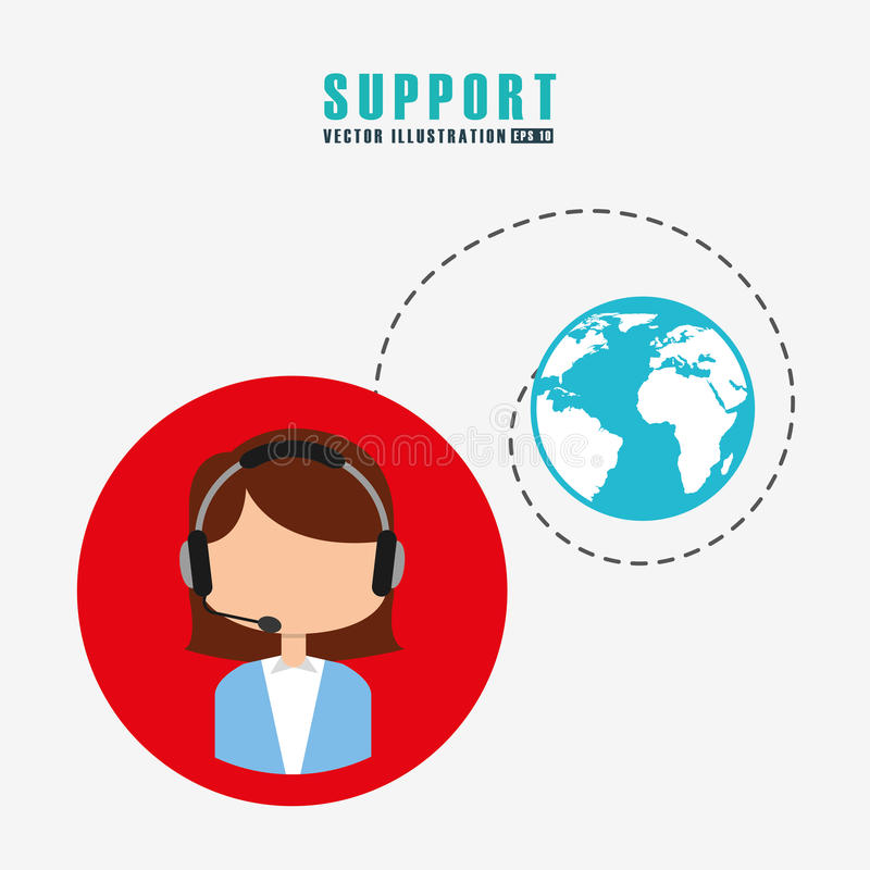 Support service design. Vector illustration eps10 graphic vector illustration