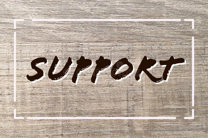 Support sign royalty free illustration