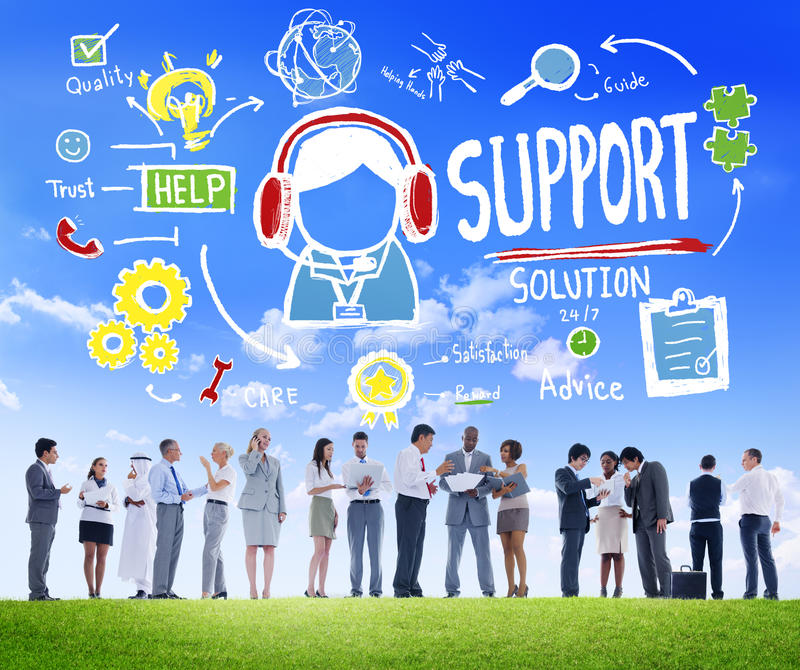 Support Solution Advice Help Care Satisfaction Quality Concept stock photos