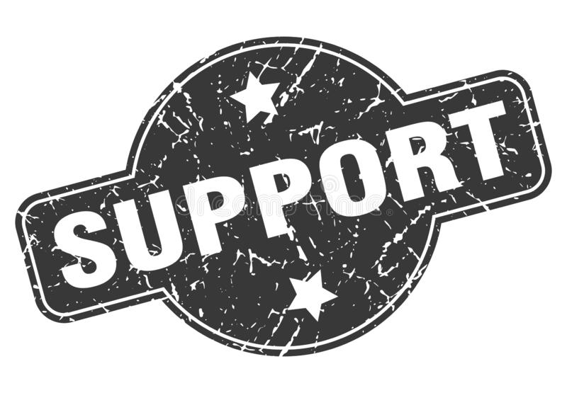Support stamp. Support grunge vintage stamp isolated on white background. support. sign royalty free illustration