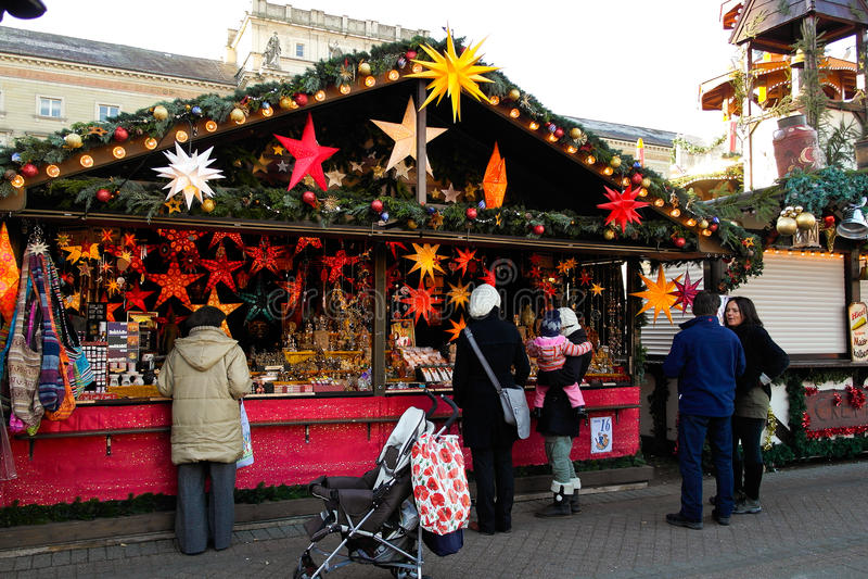 Support sur Noël juste à Karlsruhe photos stock