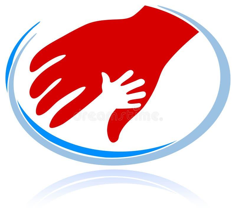 Support symbol vector illustration