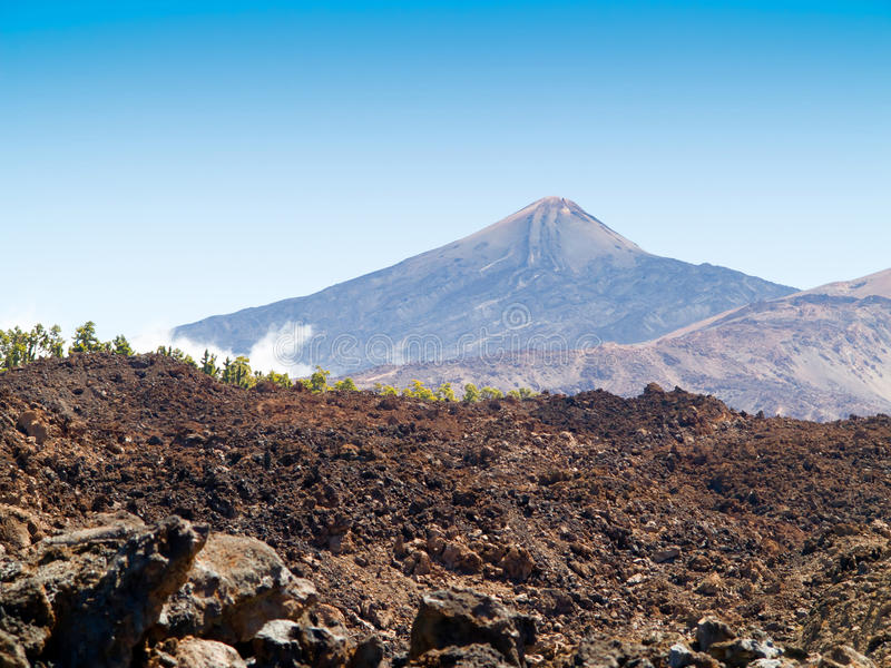 Support Teide photographie stock
