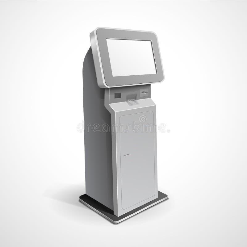Support terminal d'écran de visualisation de l'information illustration de vecteur