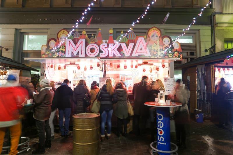 Support thématique de nourriture à Zagreb photos libres de droits