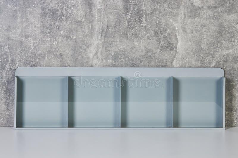 Support transparent en plastique en verre de maquette vide d'insecte photographie stock libre de droits