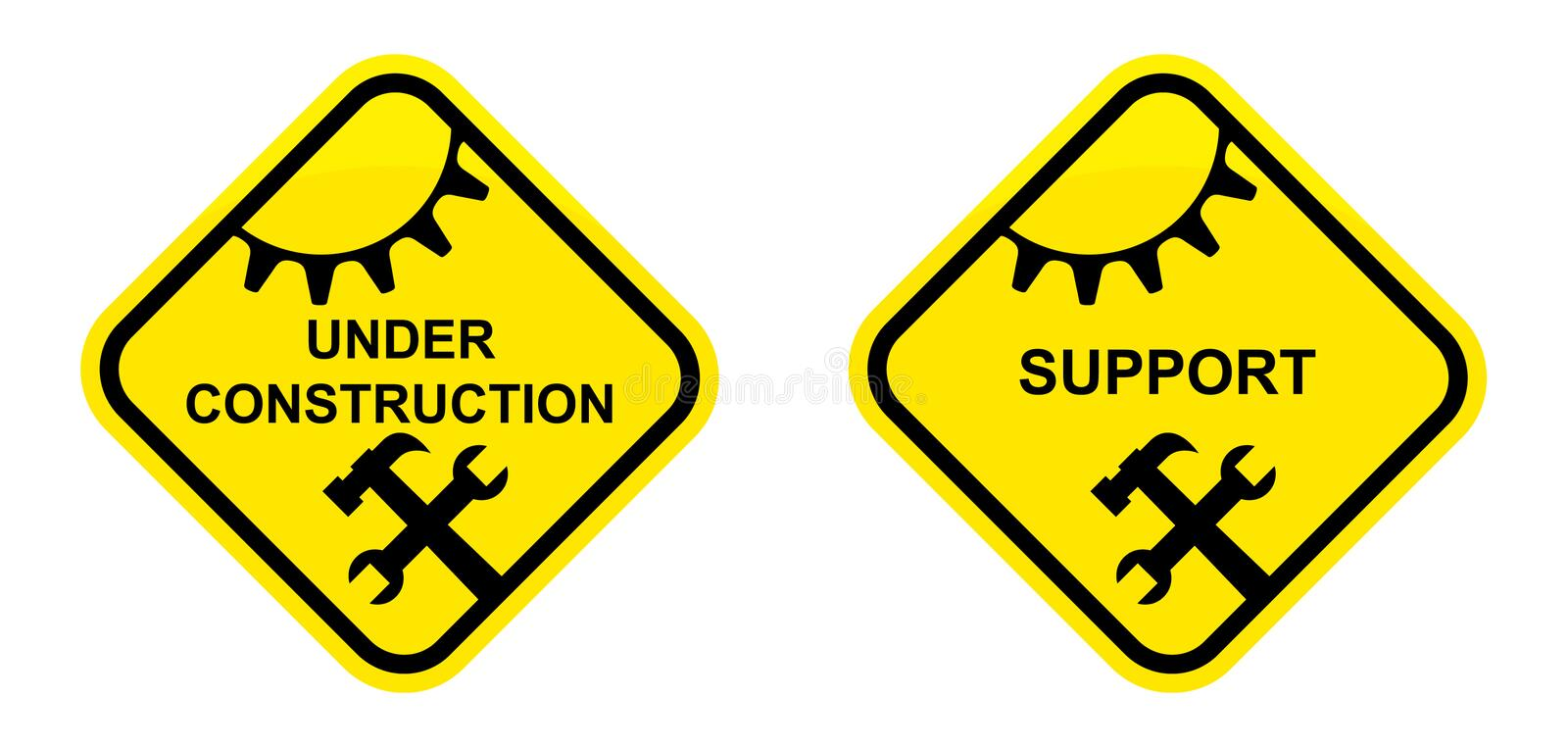 Download Support And Under Construction Sign Stock Vector - Image: 26421417