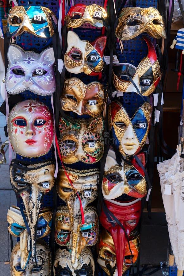Support vénitien de masques images stock