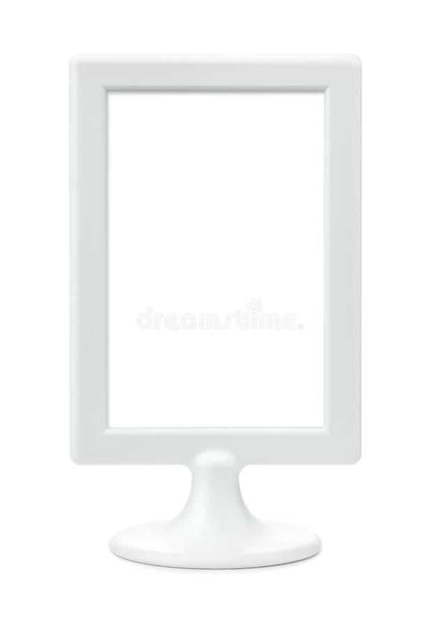 Support vide en plastique blanc de cadre de tableau images libres de droits