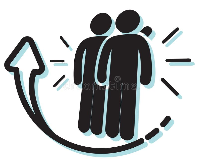 Support your Team Member Icon stock illustration