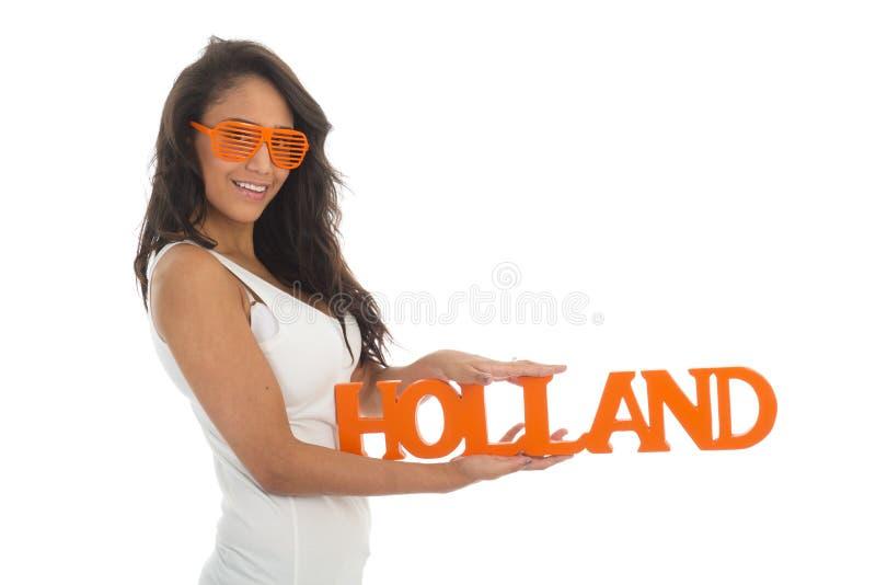 Supporter för Holland fotografering för bildbyråer